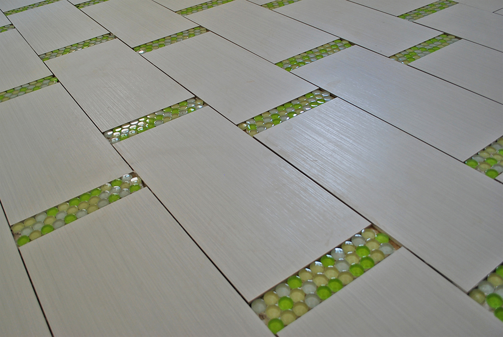 mix tile flooring