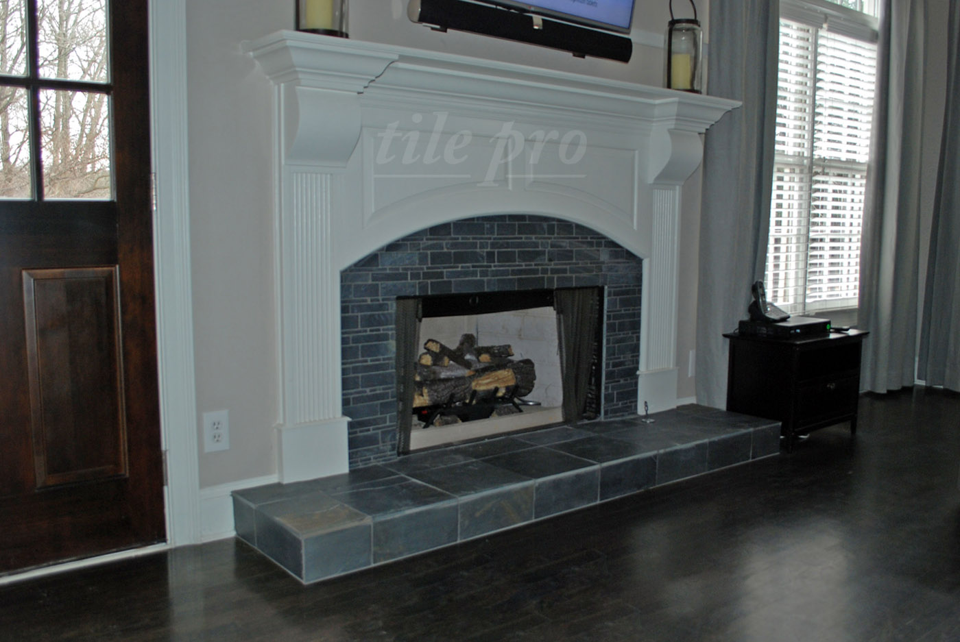 best looking tile for fireplace